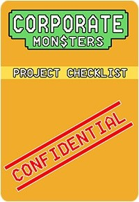 Corporate Monsters Project Checklist Card