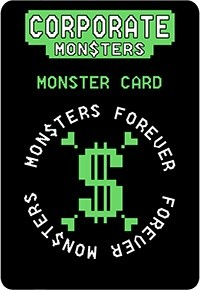 Backside of Monster Card from Corporate Monsters