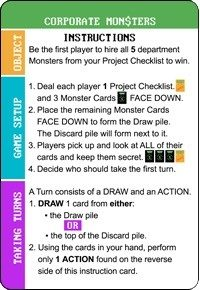 Corporate Monsters Instructions - Side 1